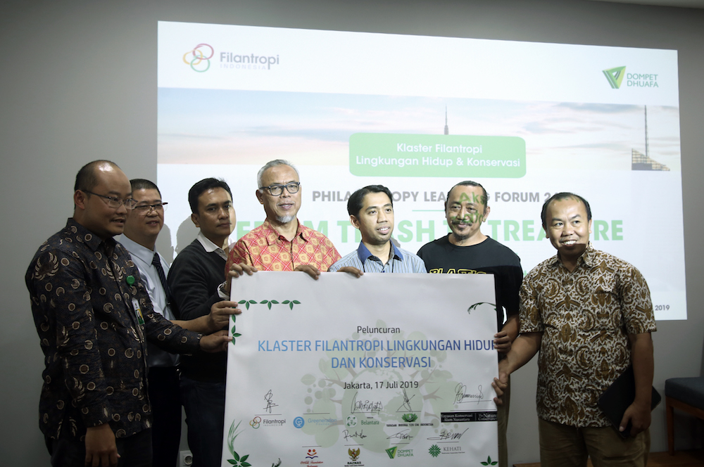 The Launch of the Conservation and Environmental Philanthropy Cluster to  Combat Environmental Waste Issues
